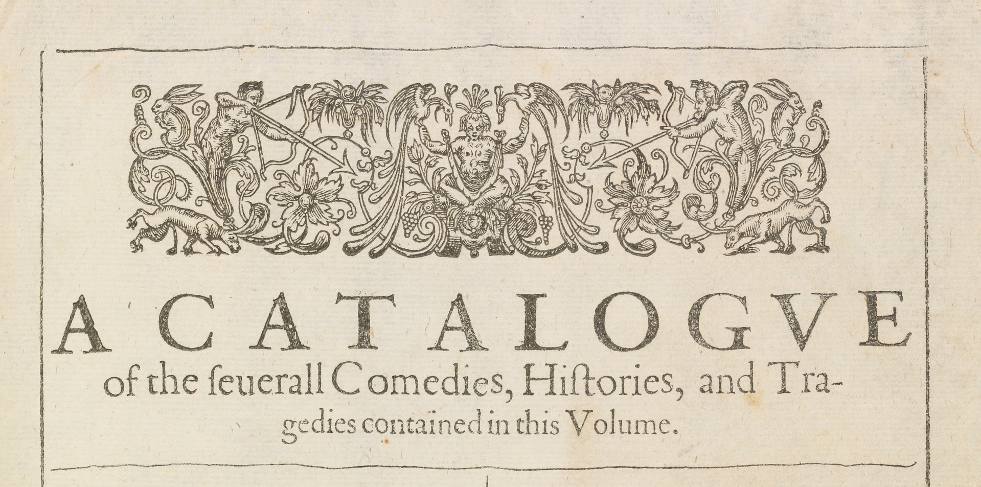 1st folio catalogue